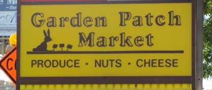 garden patch market sign logo