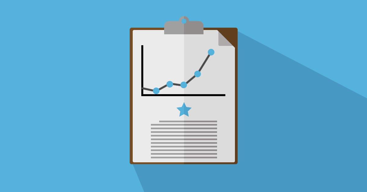 successful data report vector icon